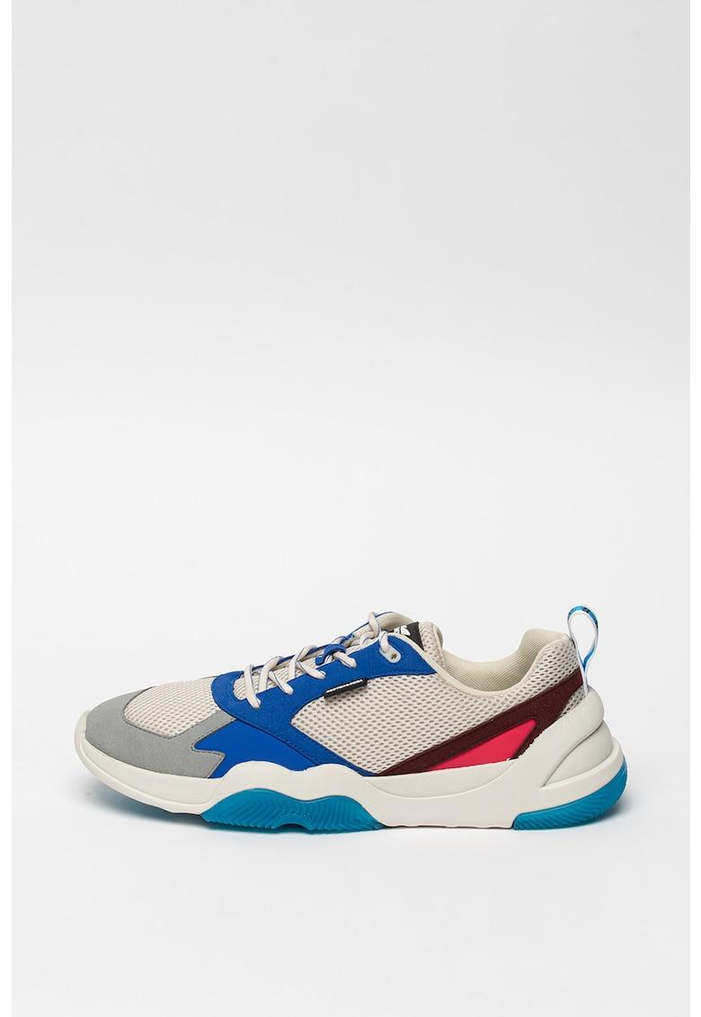 Pantofi sport cu insertii de piele intoarsa sintetica Icaryus