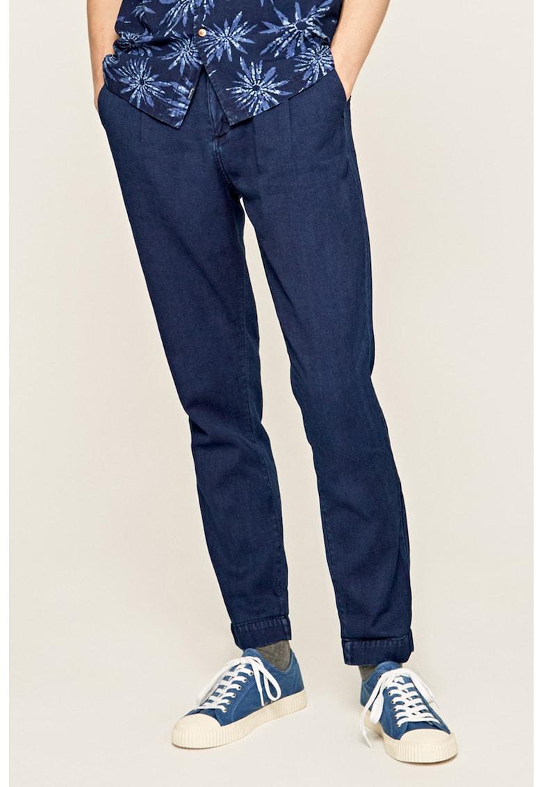 Pantaloni conici din chambray