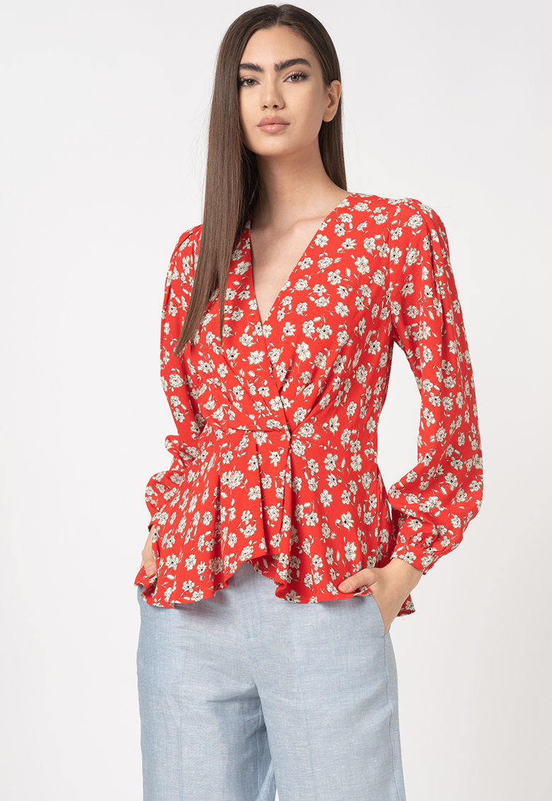 Bluza cu model petrecut si imprimeu floral Mila