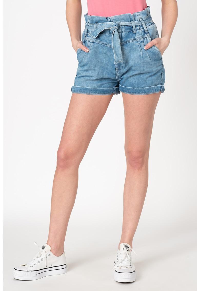Pantaloni scurti din denim cu talie inalta Phoebe