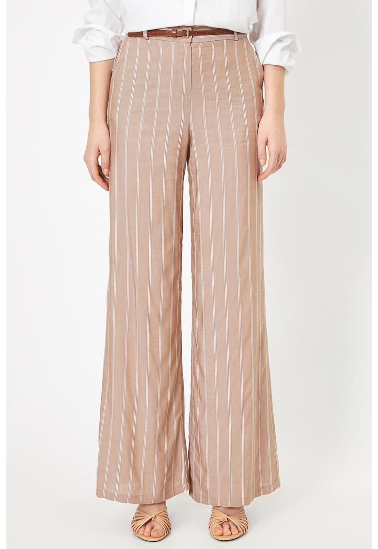 Pantaloni cu croiala ampla si dungi de la KOTON