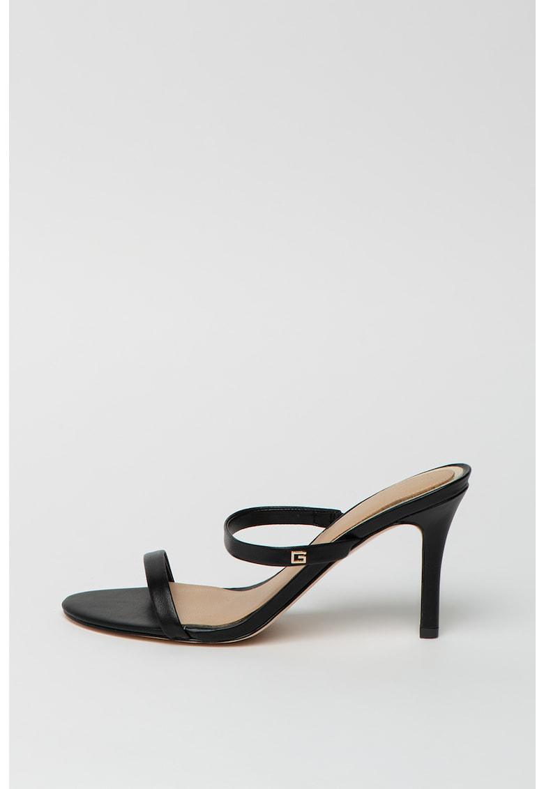 Papuci de piele cu toc stiletto