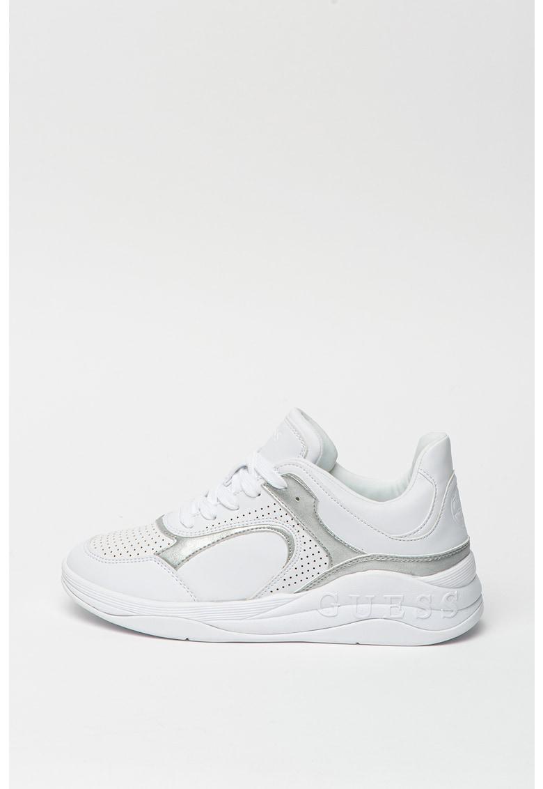 Pantofi sport din piele ecologica cu perforatii