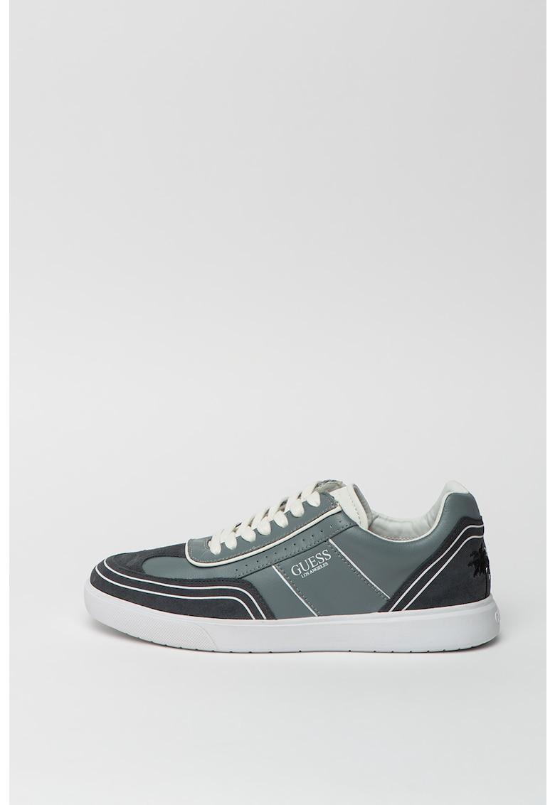 Pantofi sport de piele ecologica si piele