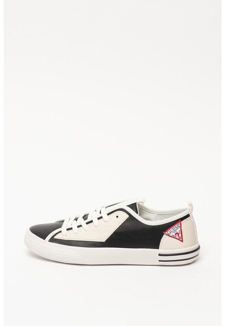 Pantofi sport cu model colorblock si garnituri de dantela 1