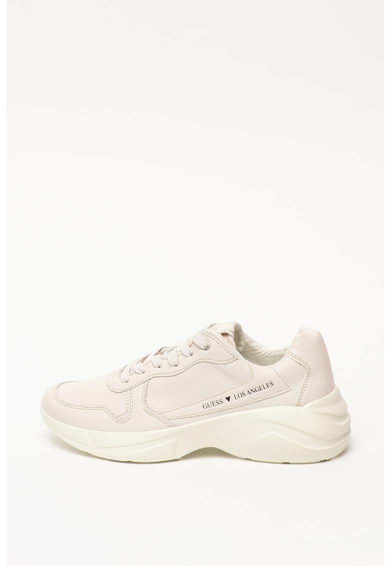 Pantofi sport cu garnituri de piele