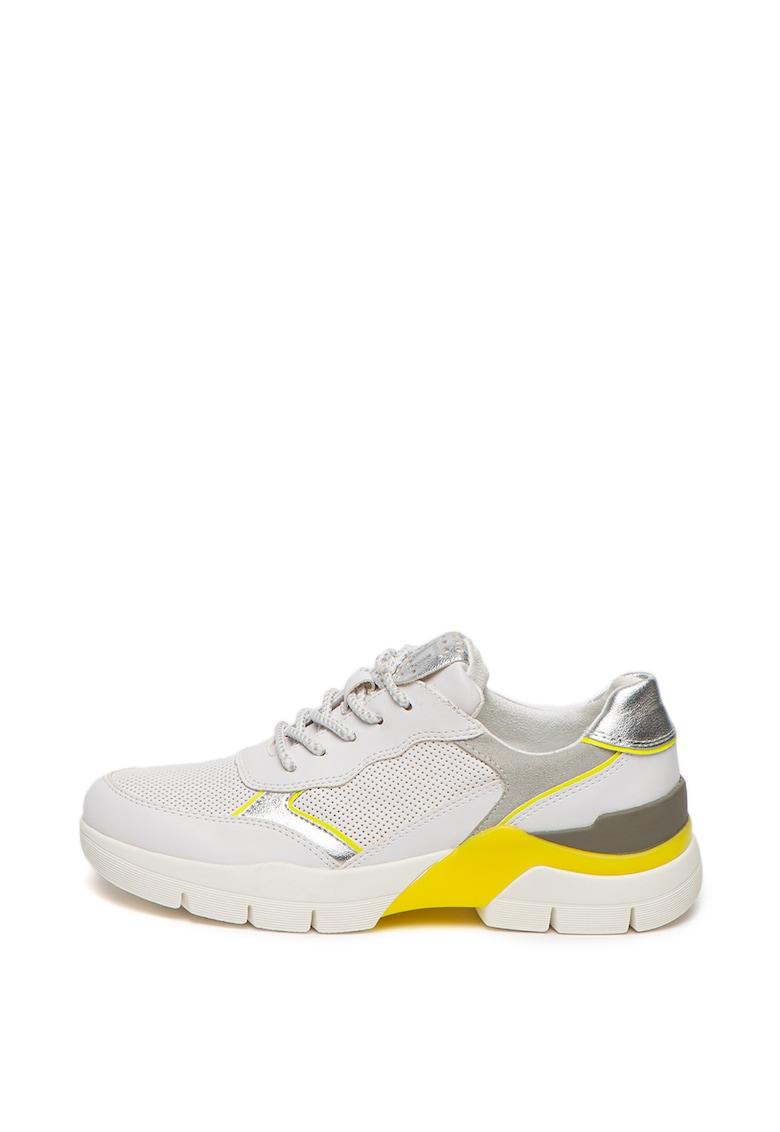 Pantofi sport de piele ecologica - cu aspect stralucitor