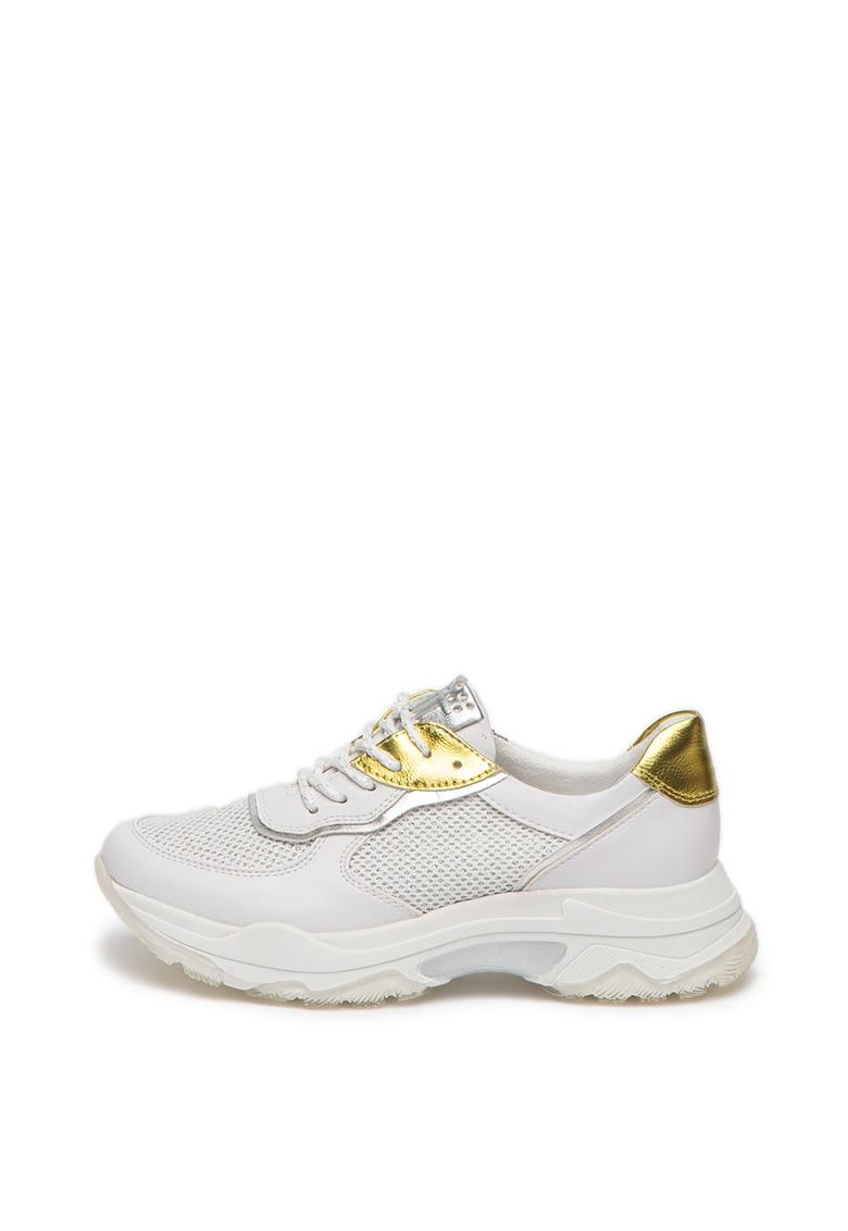 Pantofi sport de piele ecologica - cu insertii stralucitoare