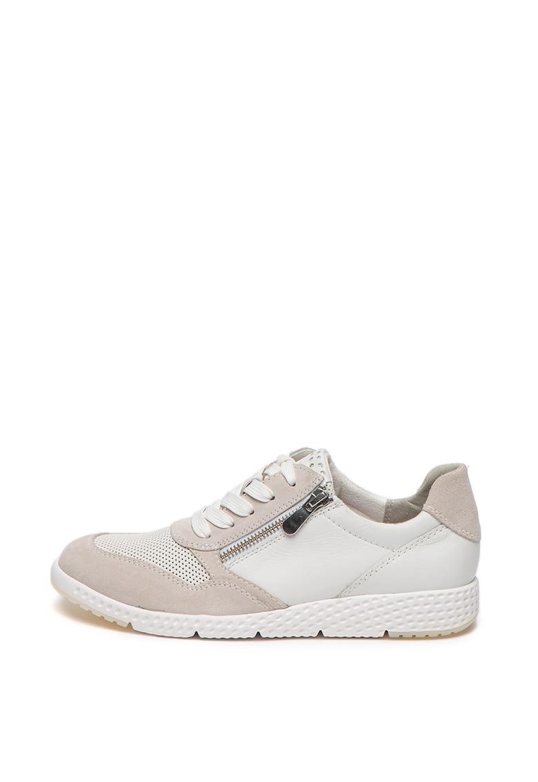 Pantofi sport de piele cu branturi detasabile