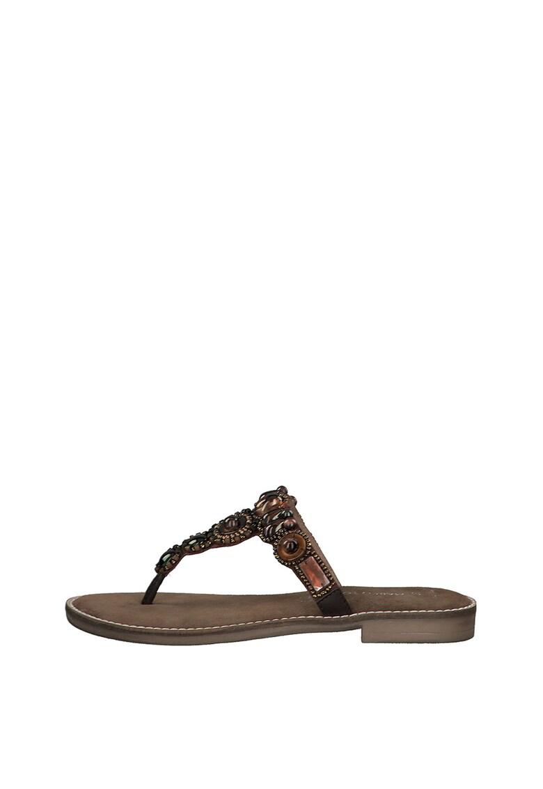 Papuci flip-flop de piele