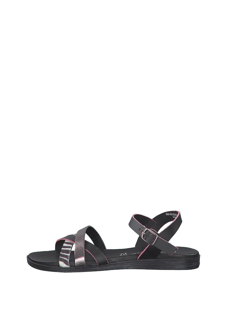 Sandale de piele ecologica - cu barete multiple de la Marco Tozzi