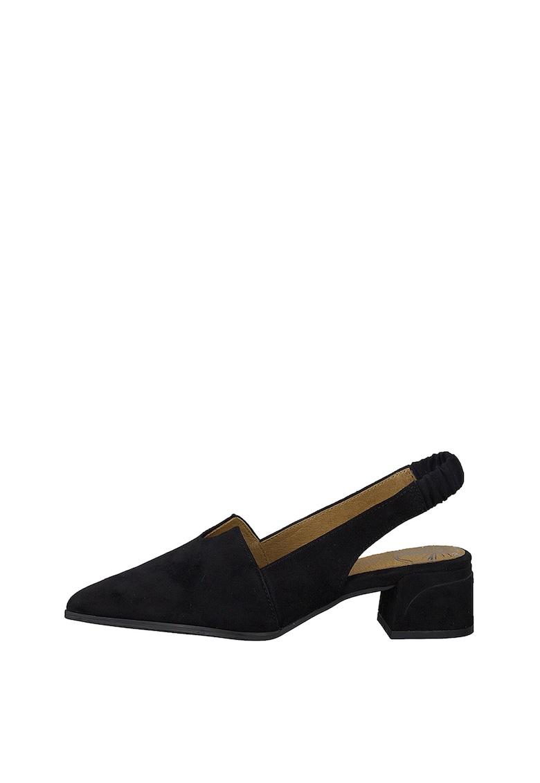 Pantofi slingback de piele intoarsa ecologica imagine