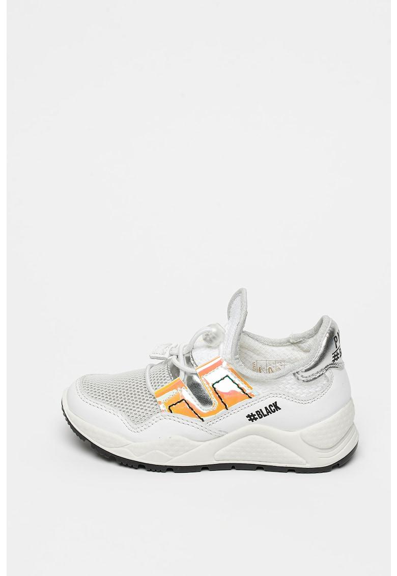 Pantofi sport cu garnituri din piele si brant cu amortizare