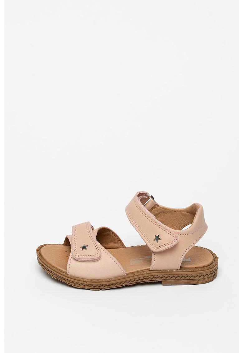 Sandale din piele cu brant ce amortizeaza socurile imagine fashiondays.ro