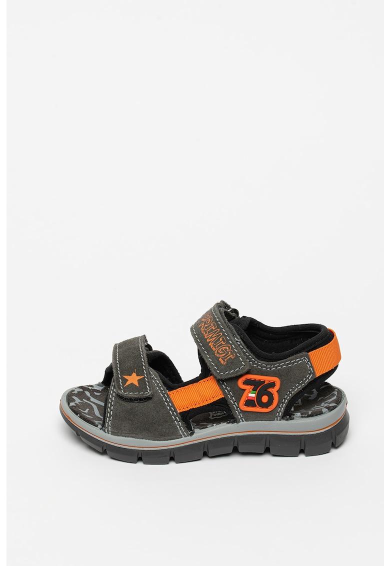 Sandale din piele intoarsa cu brant ce amortizeaza socurile