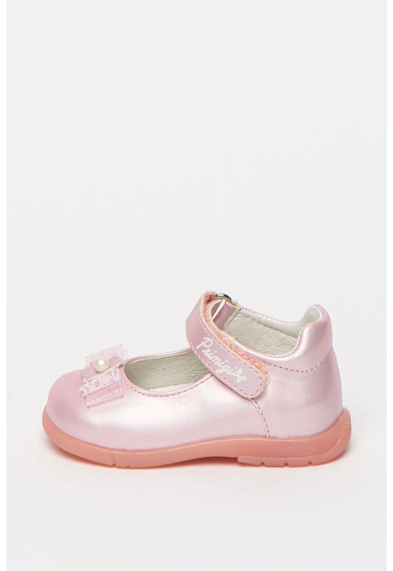 Pantofi Mary Jane din piele ecologica cu irizatii