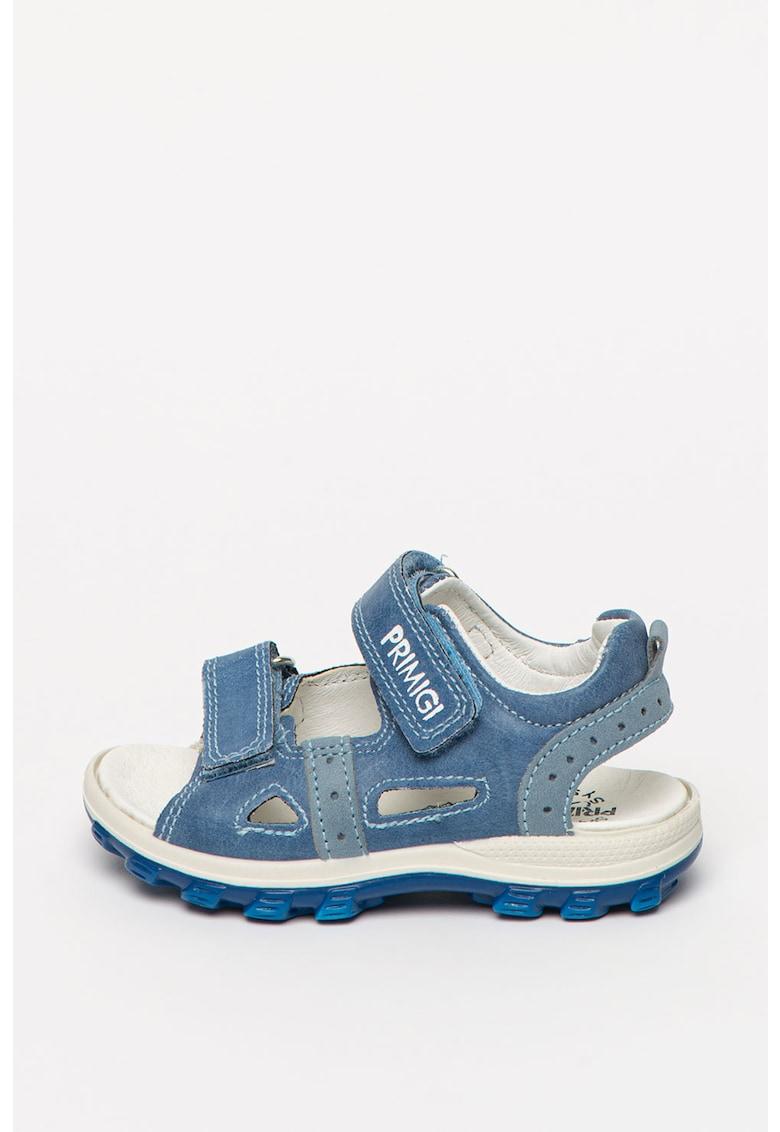 Sandale de piele ecologica - cu detaliu logo