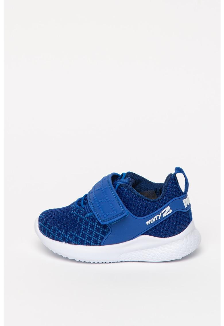 Pantofi sport din plasa tricotata cu LED-uri