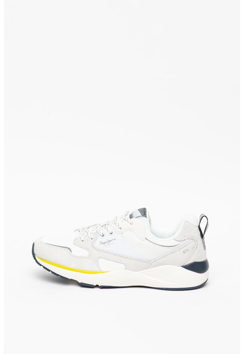 Pantofi sport cu insertii de piele nabuc Blake poza fashiondays