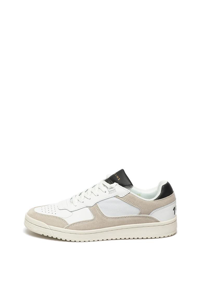 Pantofi sport de piele cu garnituri de piele intoarsa Kurt 1973