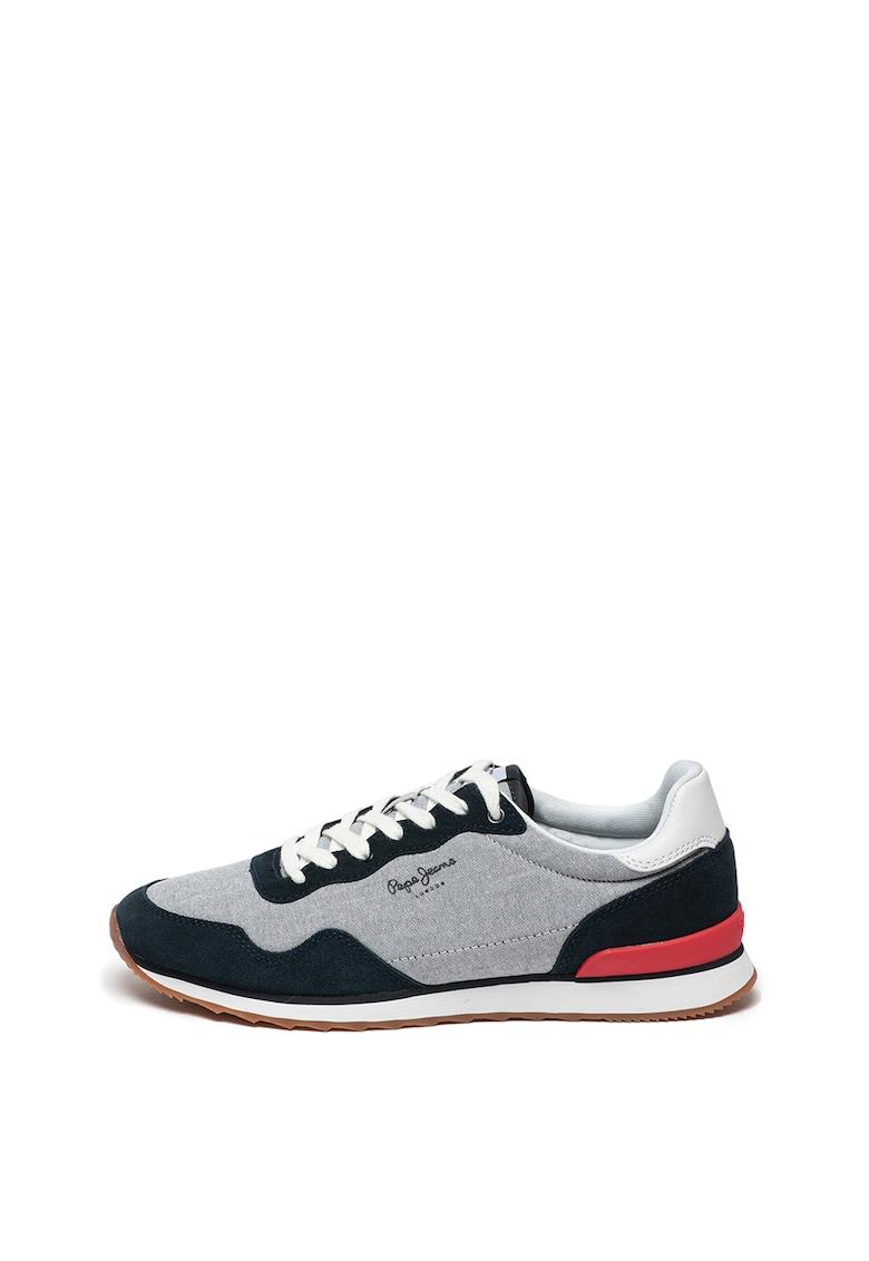Pantofi sport cu garnituri de piele intoarsa Cross 4