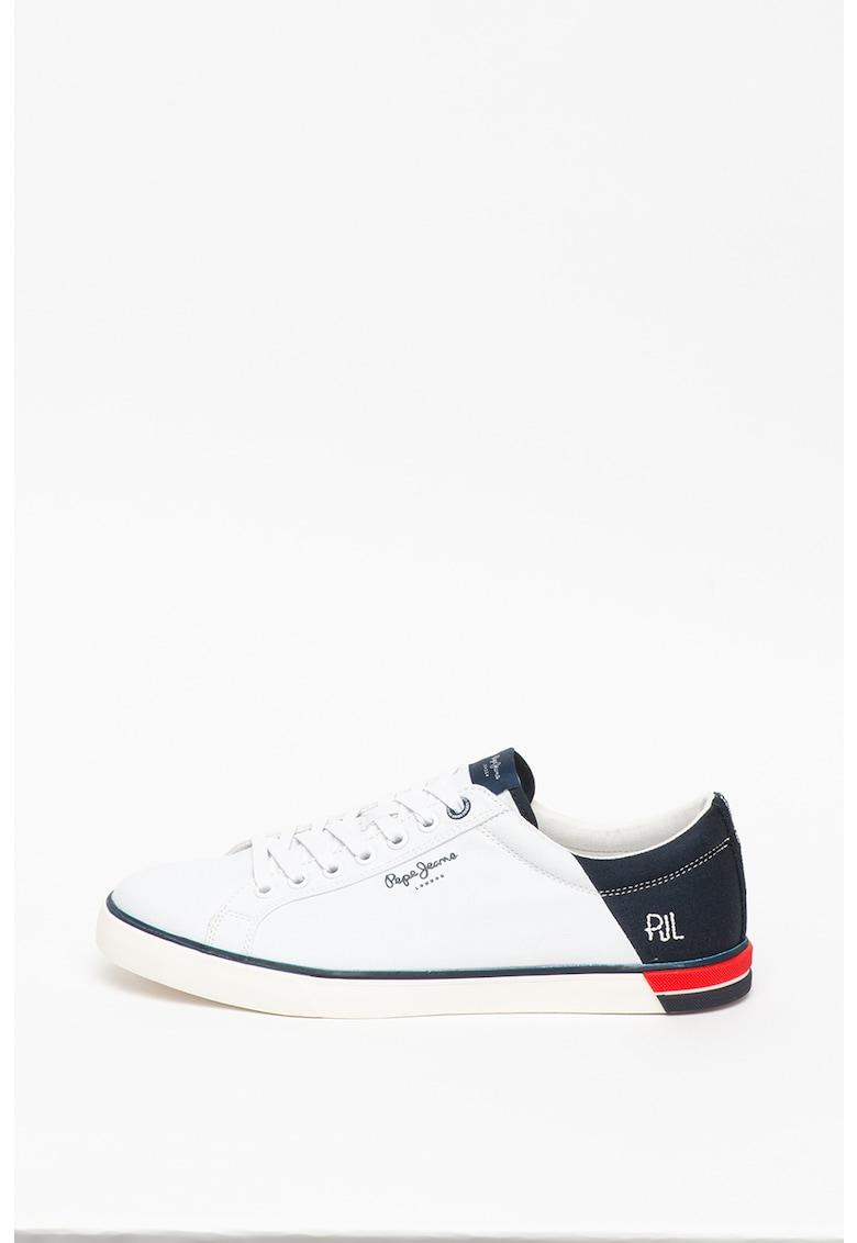 Pantofi sport de piele ecologica - cu insertii textile 2