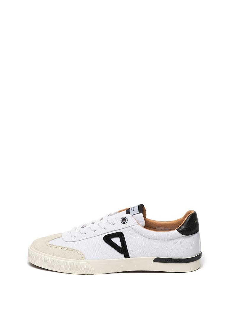 Pantofi sport de piele cu garnituri de piele intoarsa si plasa Kurt 1973 3