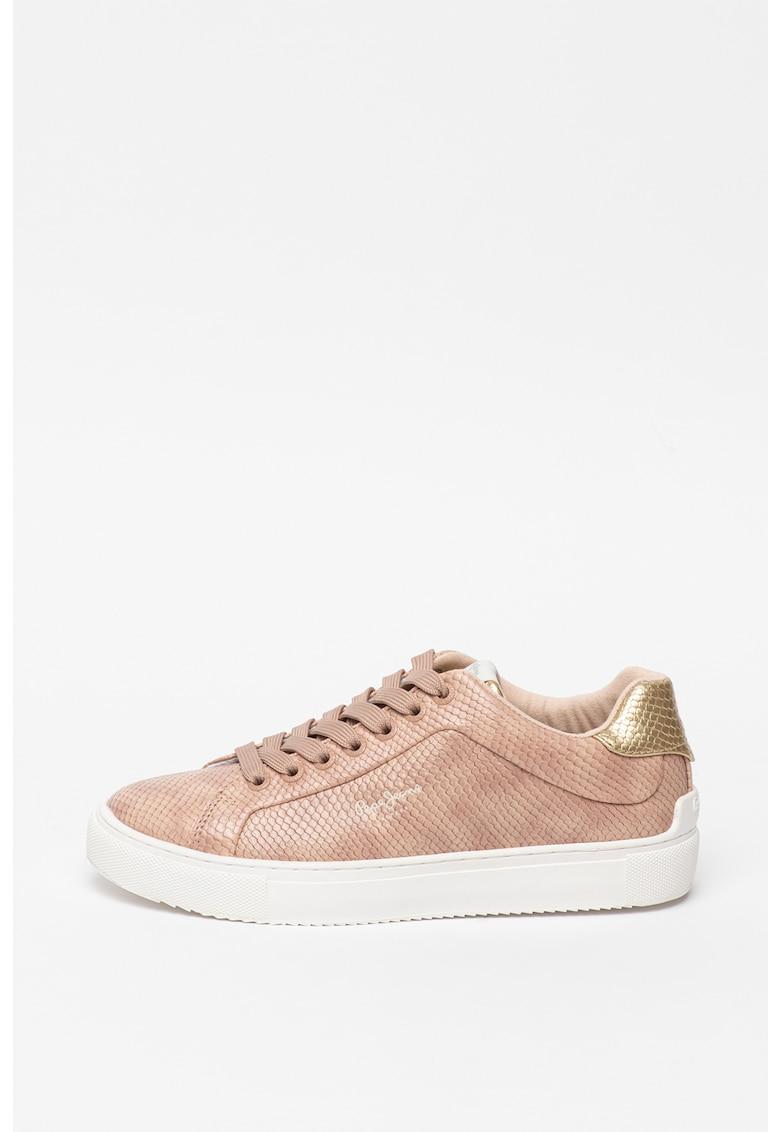 Pantofi sport de piele ecologica - cu textura de piele de sarpe Adams
