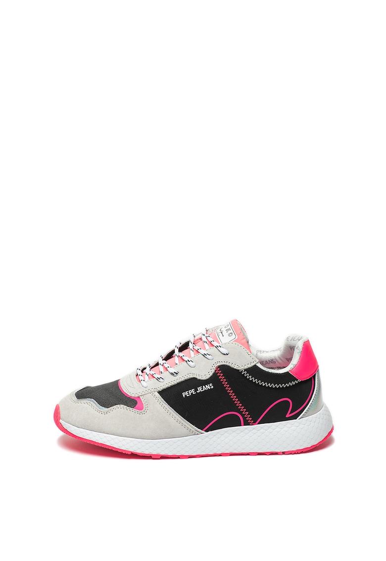 Pantofi sport cu garnituri de piele intoarsa Koko Tech