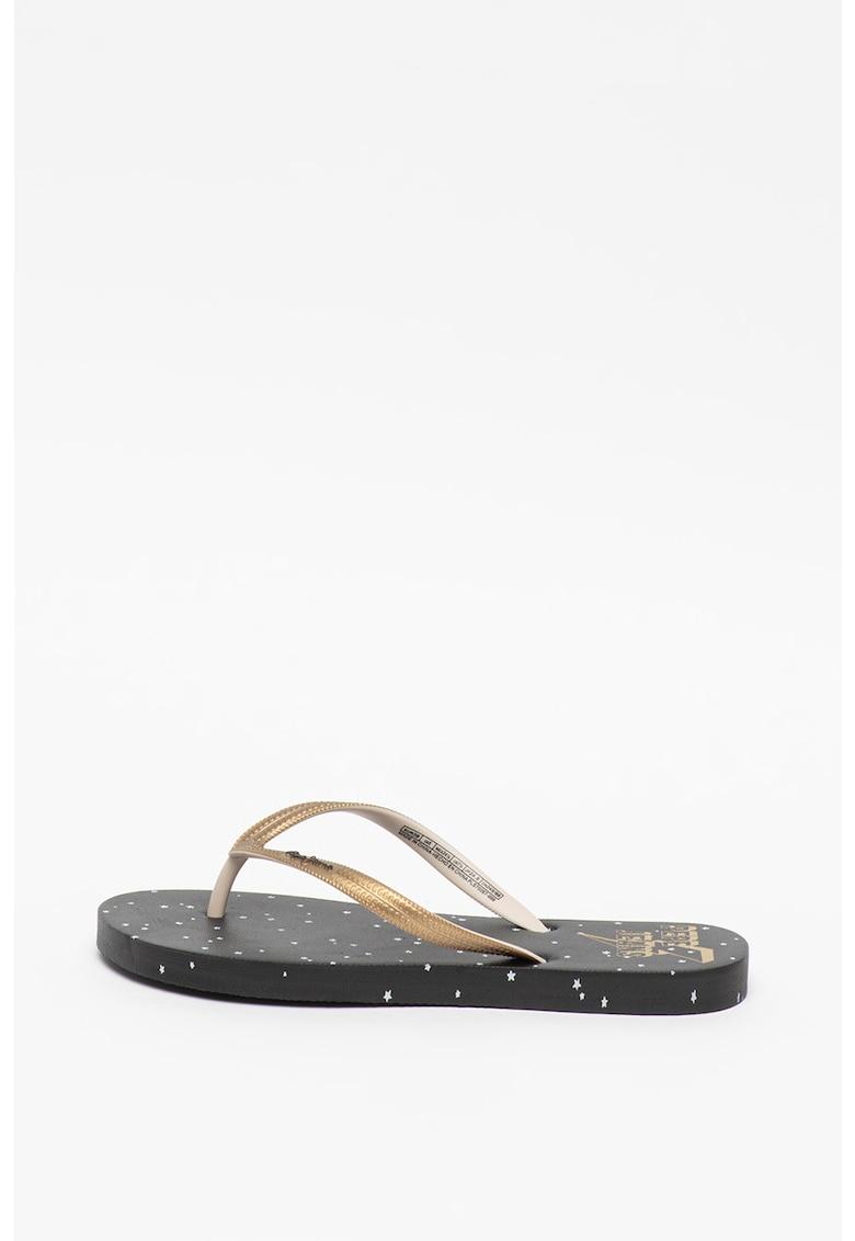 Papuci flip-flop cu imprimeu cu stele Rake Stars