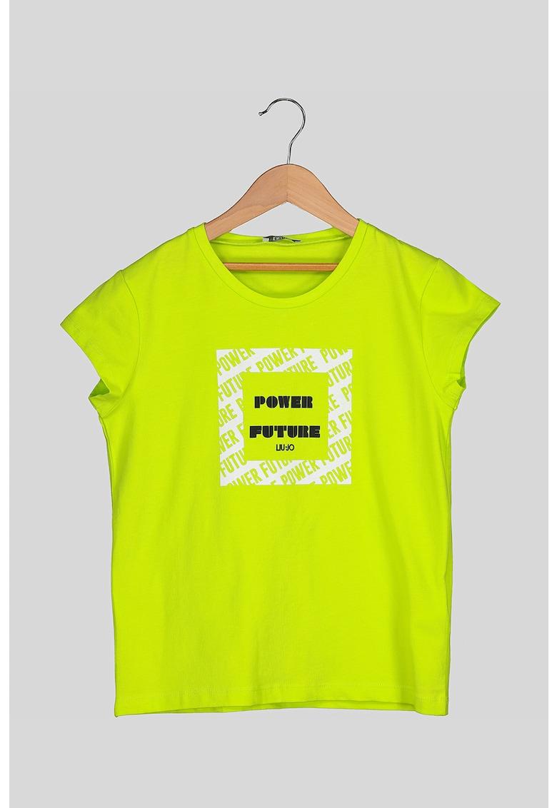 Tricou cu imprimeu text Liu Jo fashiondays.ro
