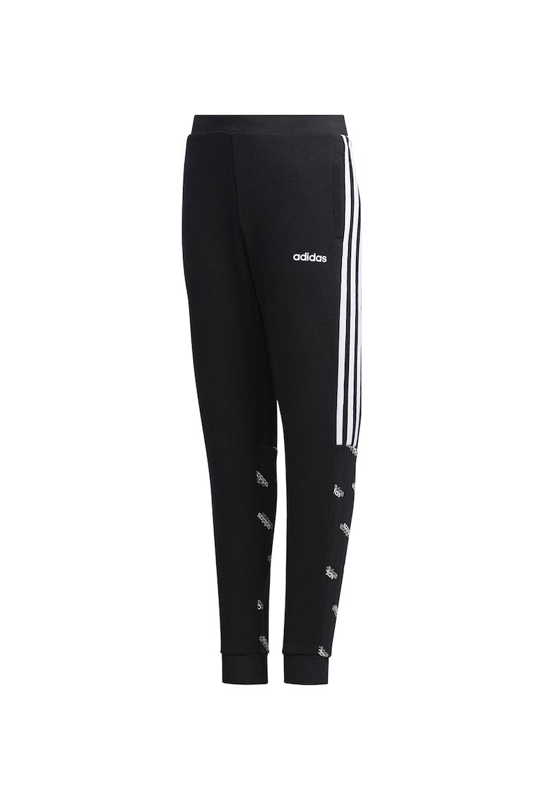 Pantaloni sport cu detalii logo YB