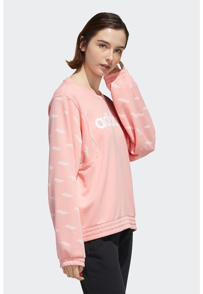 Bluza sport lejera cu imprimeu logo Favourites