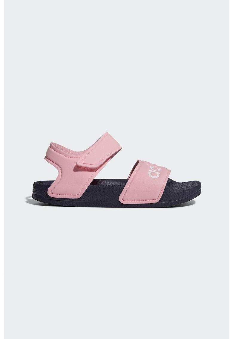 Sandale cu imprimeu logo Adilette poza fashiondays