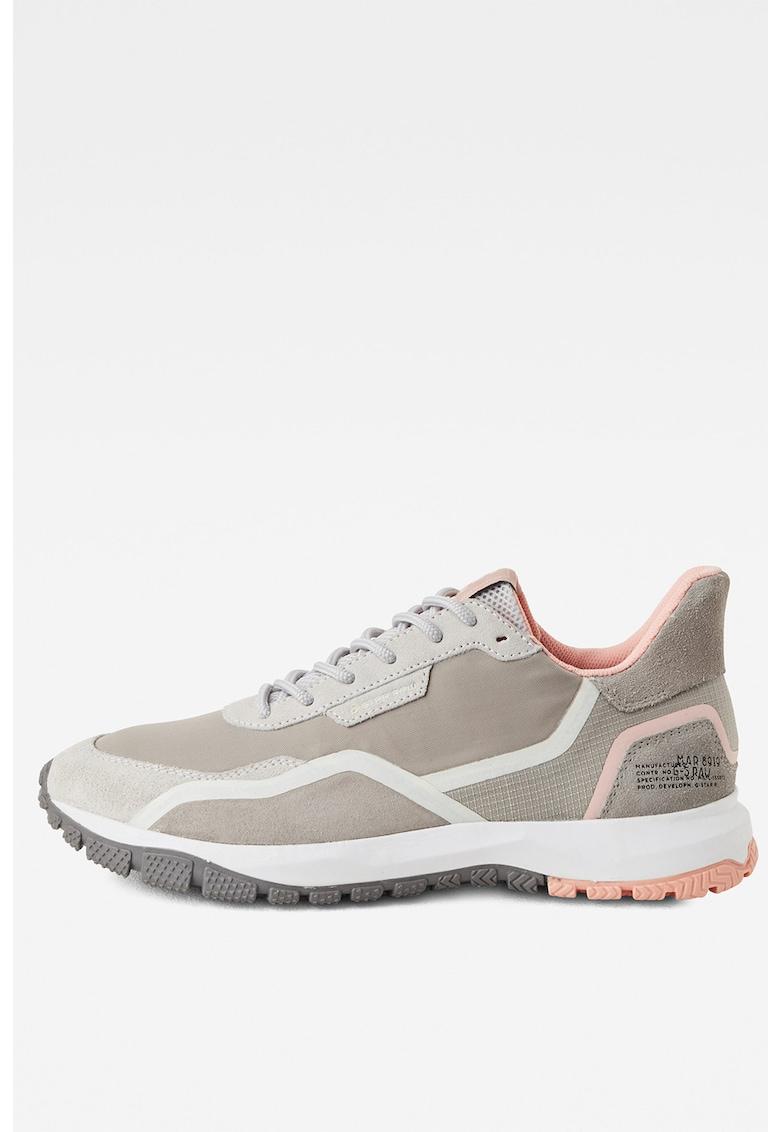 Pantofi sport cu garnituri din piele intoarsa D16808-C253