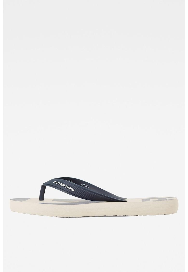 Papuci flip-flop cu aspect cauciucat