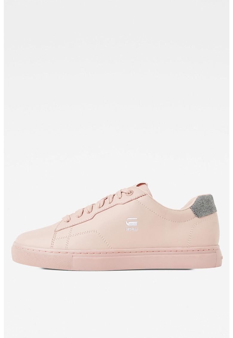 Pantofi sport de piele ecologica cu detaliu logo 1