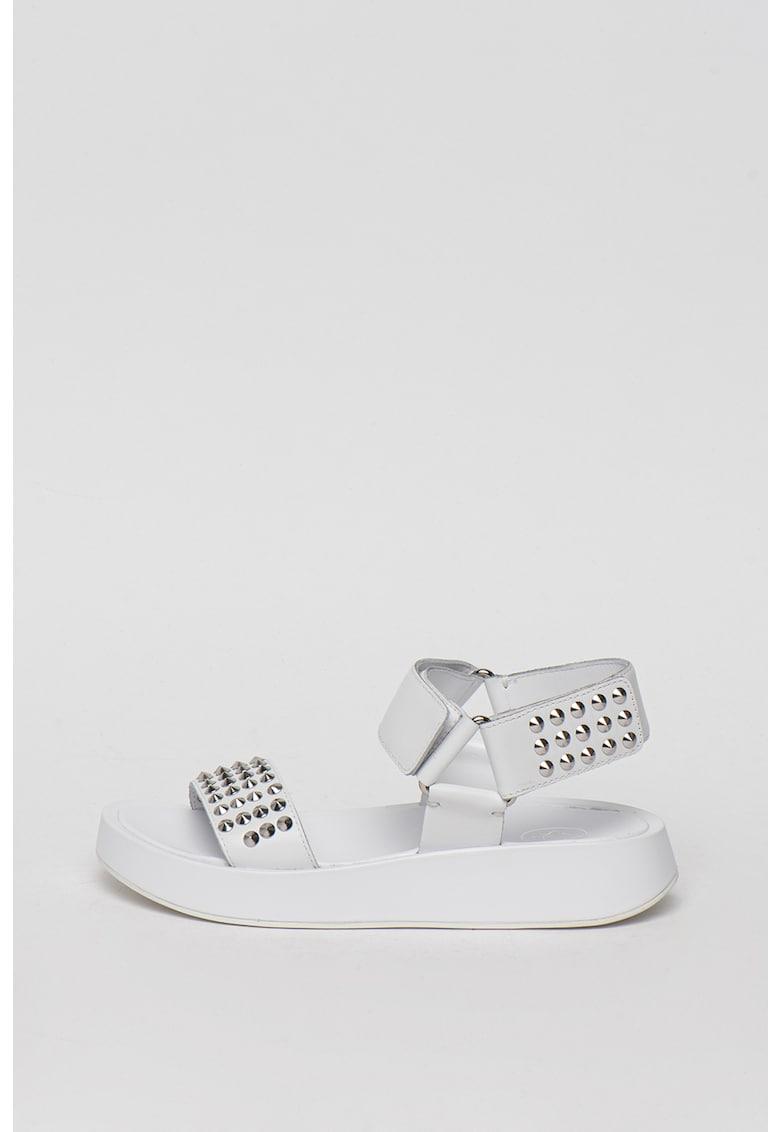 Sandale de piele cu tinte Volcano