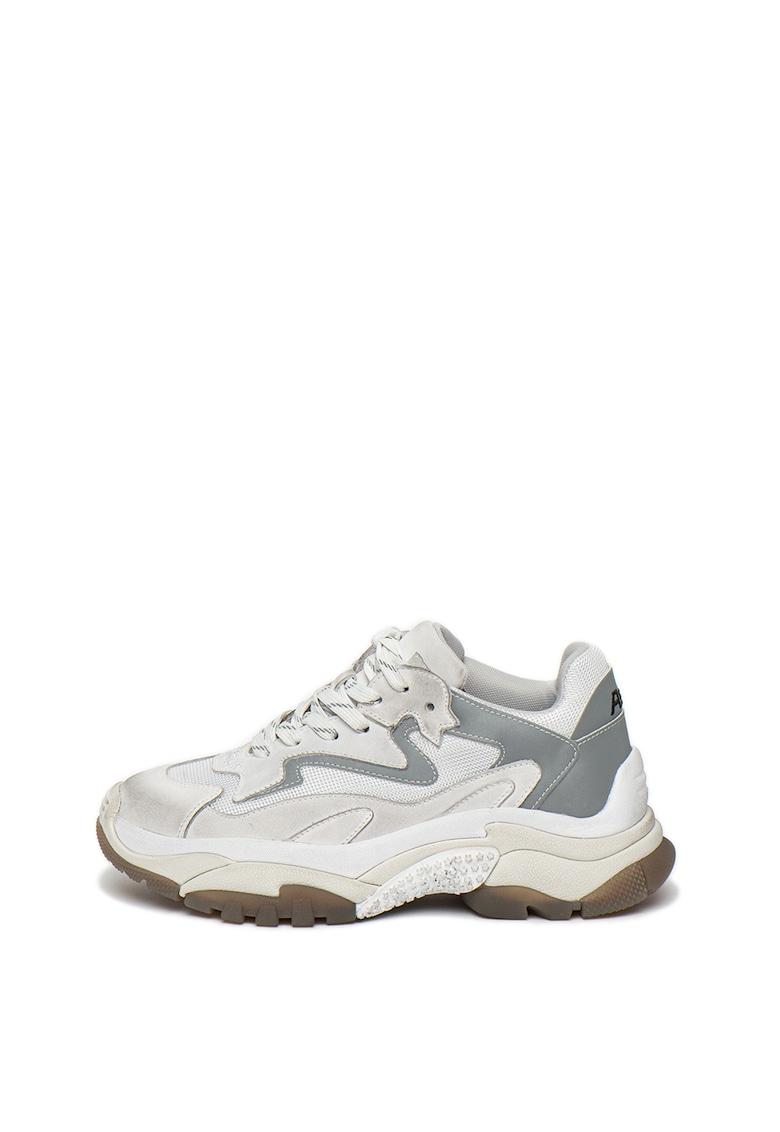 Pantofi sport cu garnituri de plasa si piele nabuc Addict
