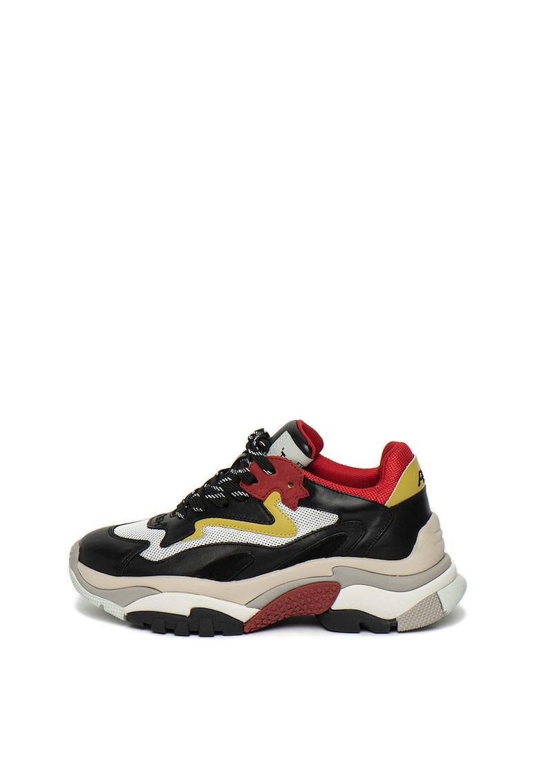 Pantofi sport cu garnituri de piele Addict