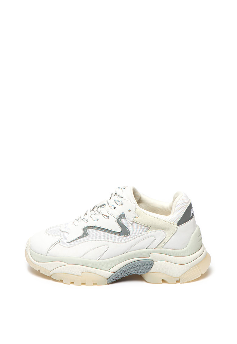 Pantofi sport din piele cu insertii din piele intoarsa Addict Bis