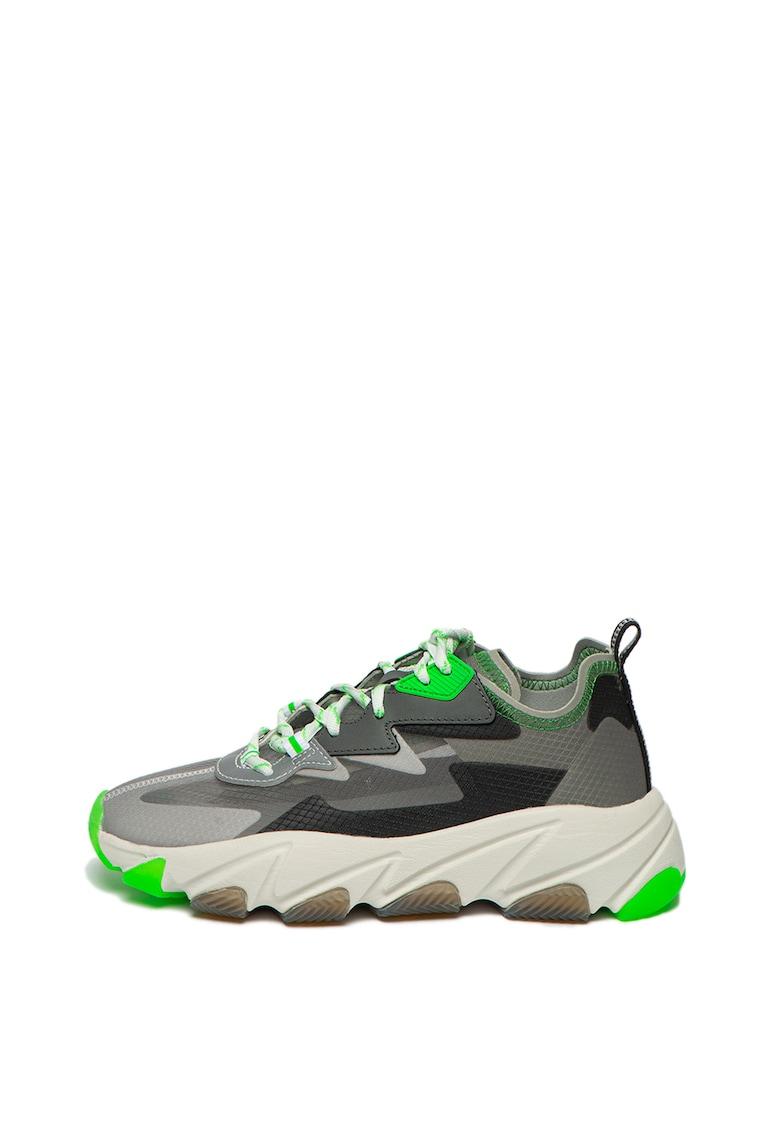 Pantofi sport din plasa cu insertii din piele intoarsa Eclipse
