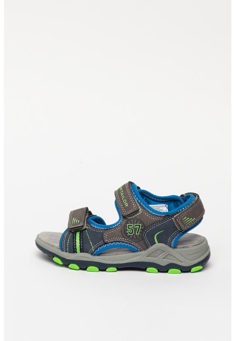 Sandale de piele ecologica - cu velcro