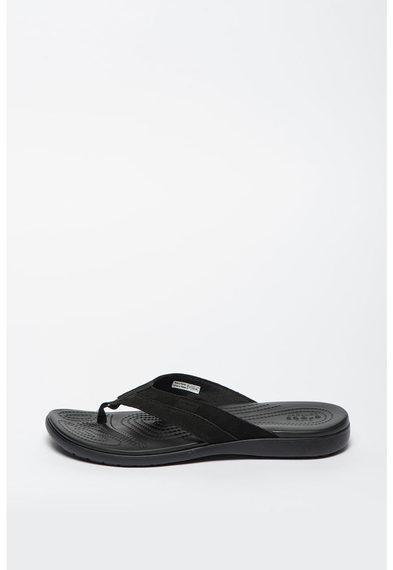 Papuci flip-flop de piele nabuc Santa Cruz imagine