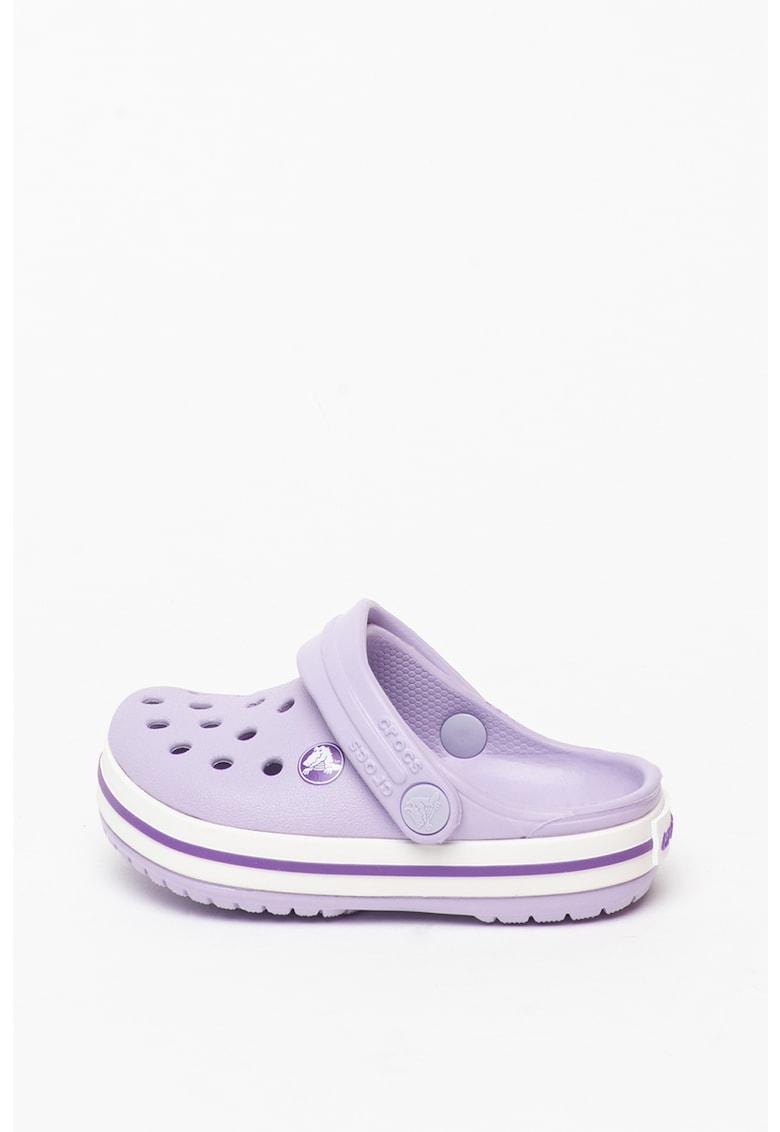 Papuci crocs slingback cu aspect perforat Crocband imagine fashiondays.ro Crocs
