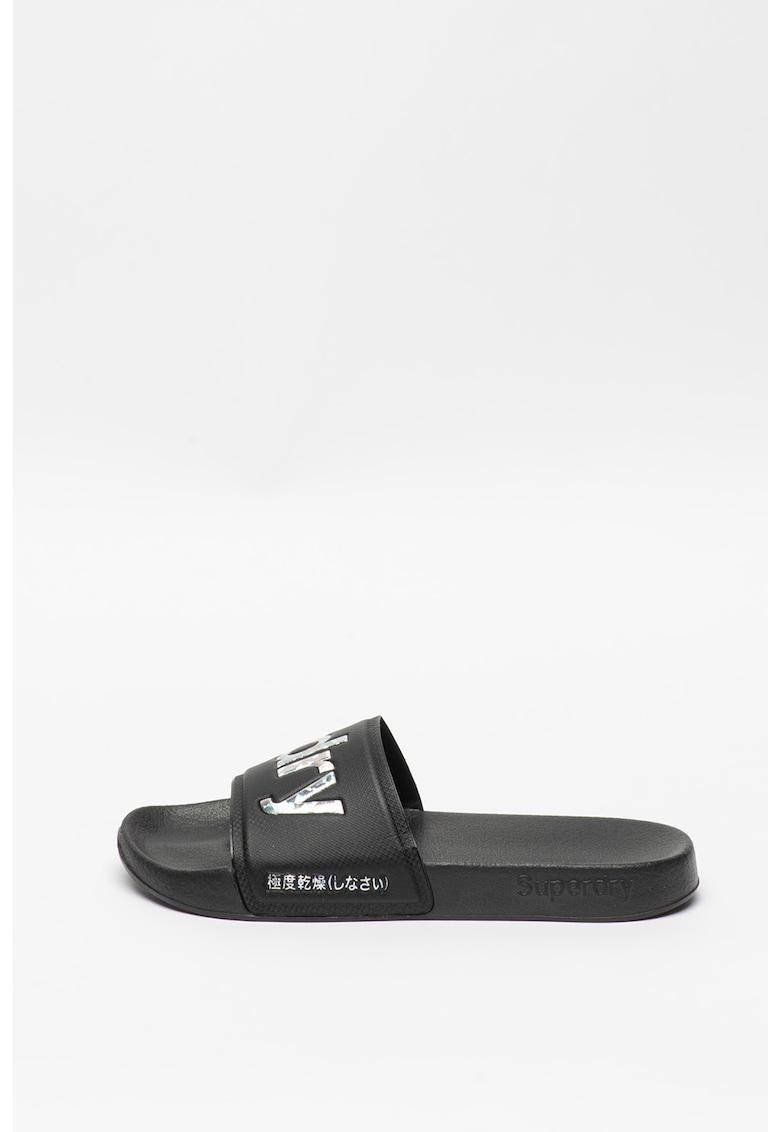 SUPERDRY Papuci cu logo irizat