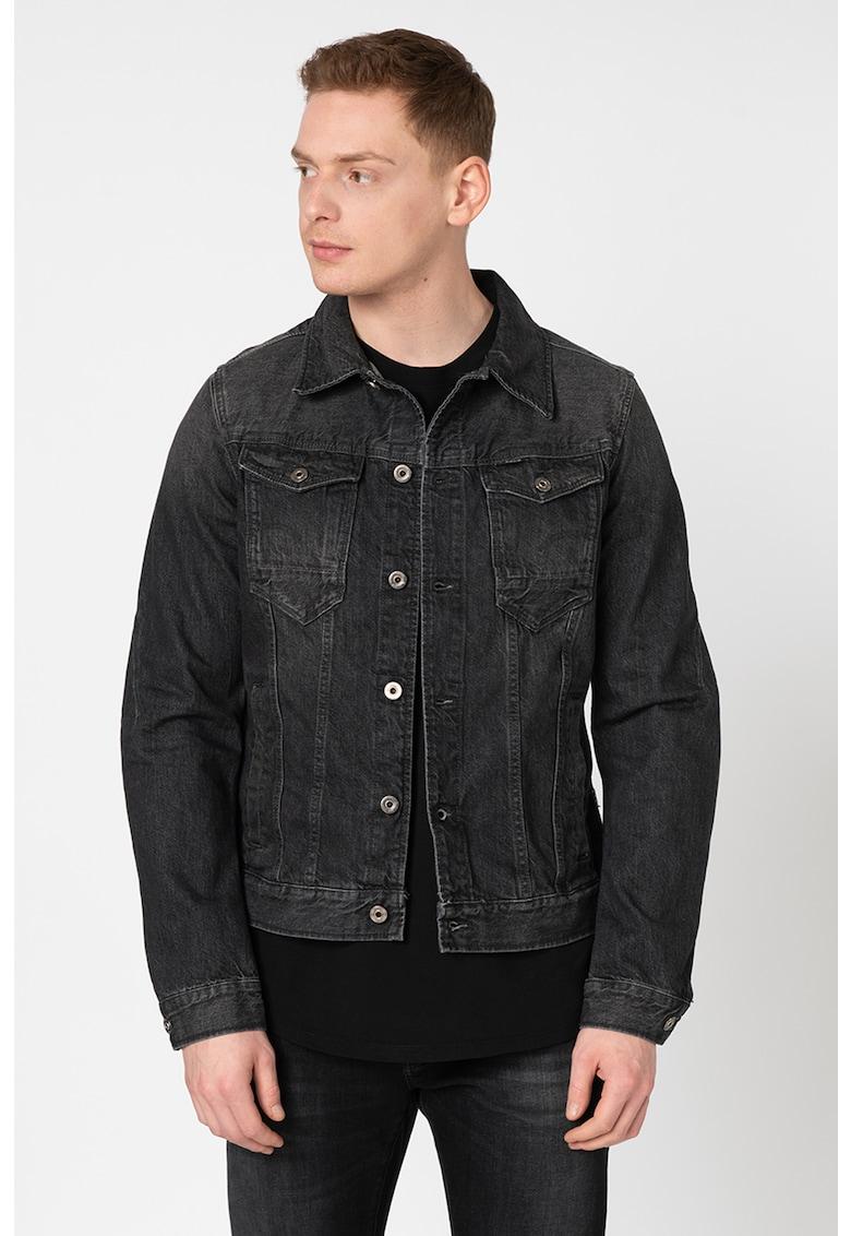Jacheta slim fit din denim Arc 3D