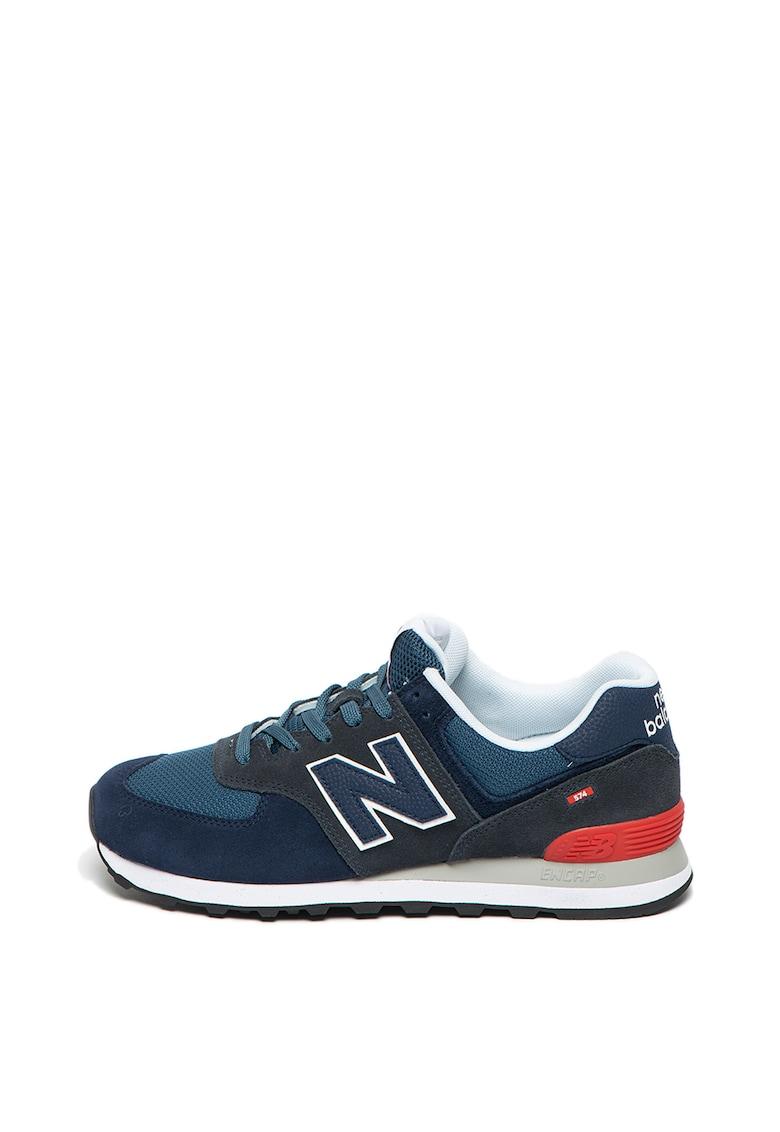 Pantofi sport cu garnituri de piele intoarsa 574