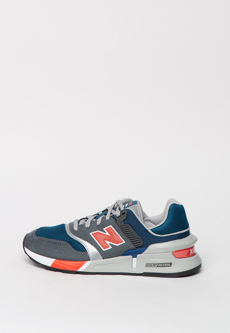 Pantofi sport din material textil si piele intoarsa 997 imagine