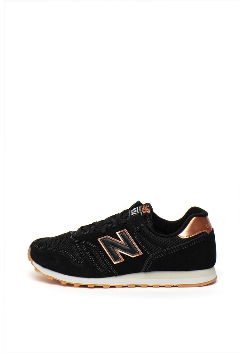 Pantofi sport cu garnituri de piele intoarsa 373